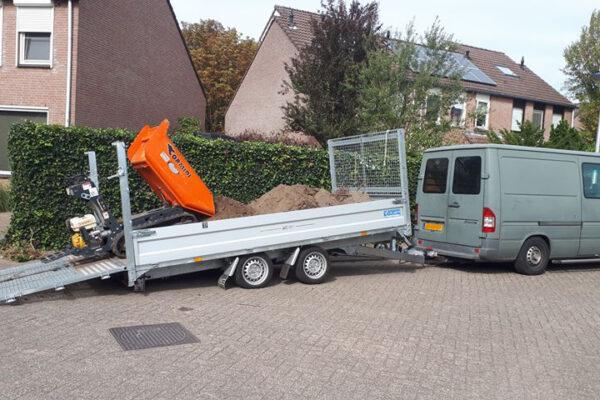 TwinTrailer TT35-40 - 402x192 - 3500kg eenvoudig laden met rupsdumper