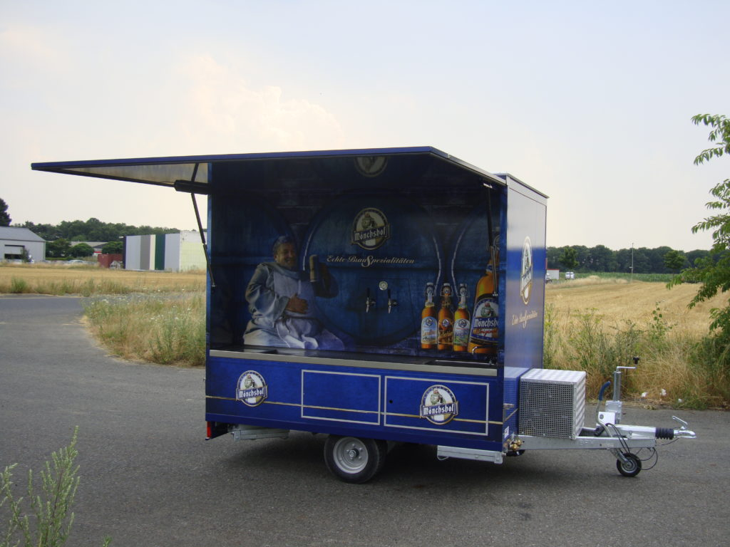 Fahnenbruck Party Mini Cooler l tapwagen koelwagen geopende klep
