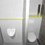 GAMO FTT320 toiletwagen, heren compartiment