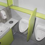 gamo ftt 460 toiletwagen urinoirs met schaamwandje