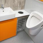 gamo ftt 460 toiletwagen wastafelmeubel in contrastkleur oranje