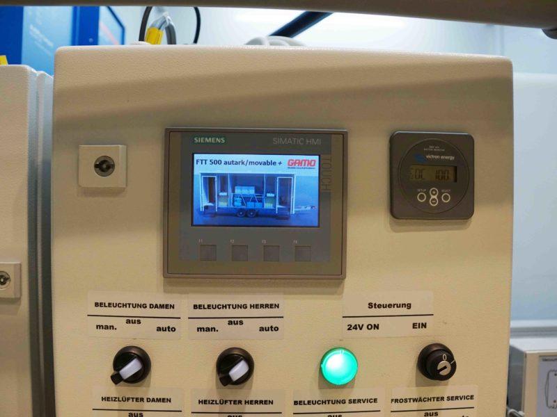 GAMO FTT500 Autark Autonome toiletwagen controledisplay