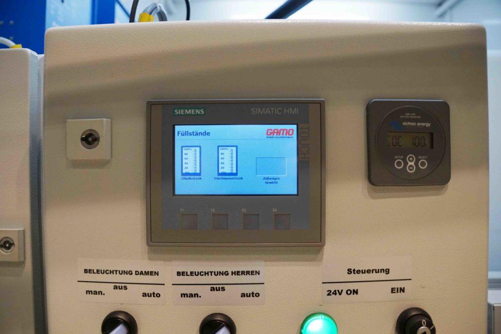GAMO FTT500 Autark Autonome toiletwagen display vulstand tanks