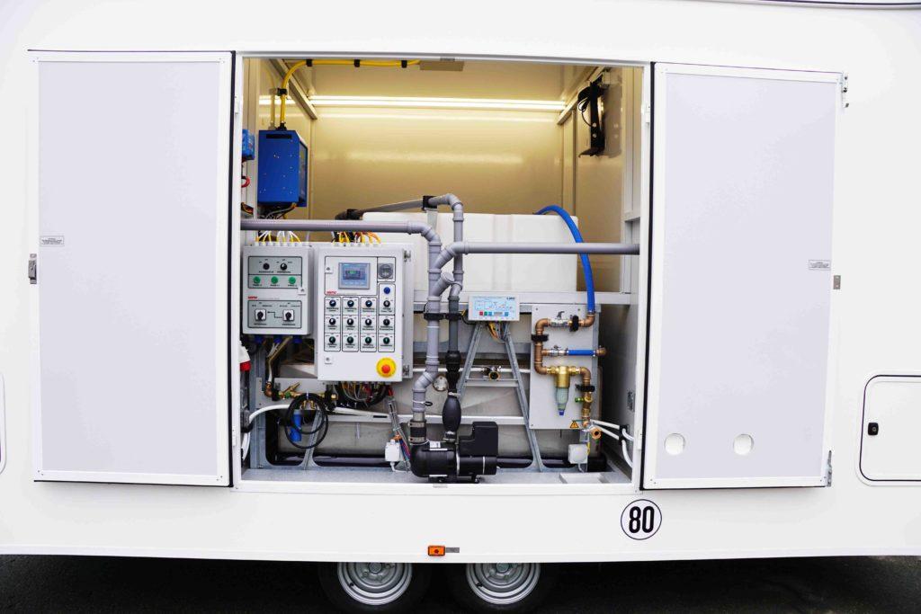 GAMO FTT500 Autark Autonome toiletwagen technische ruimte