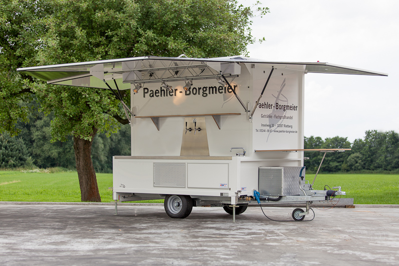 Fahnenbruck Party Mini Cooler koelwagen tapwagen kleppen geopend