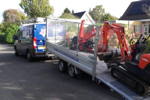 TwinTrailer TT35-35 - 352-192 - 3500kg machines laden