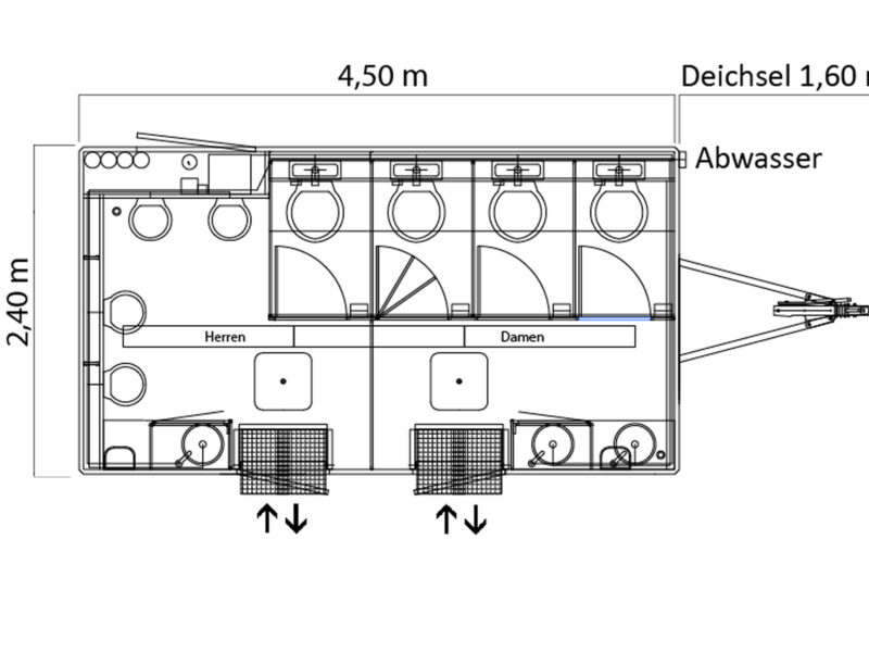 Plattegrond GAMO FTT 460 toiletwagen