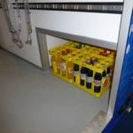 Party Mini Cooler tapwagen koelwagen frisdrank vitrine laadruimzijde