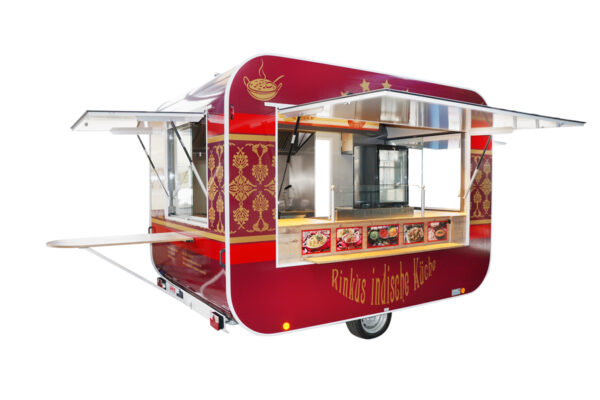 GAMO RETROLINER RL340 food-trailer wijnrood