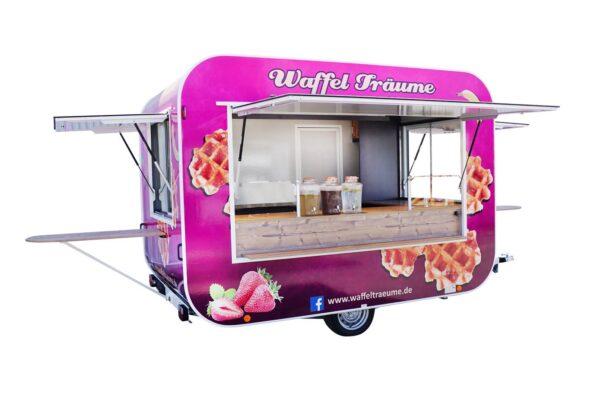 GAMO RETROLINER RL340 roze food-trailer deels beplakt