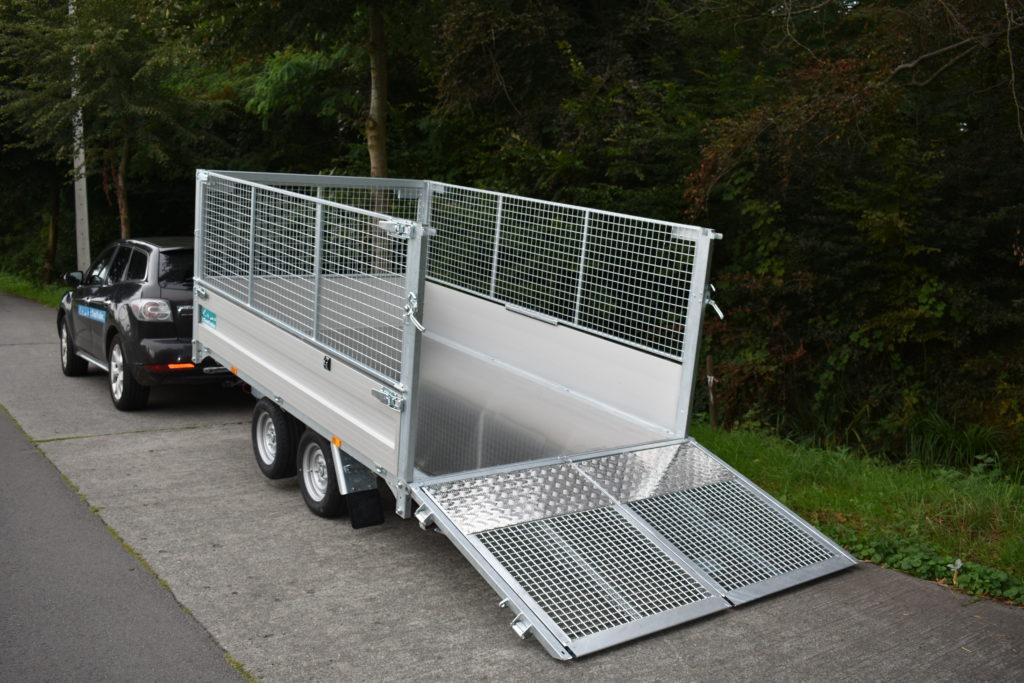 Twintrailer TT27-30 – 309×183 – 2700kg gekanteld