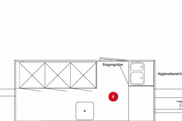GAMO Retroliner 340 verkoopwagen achterwandvariant met 3 staande grote koelkasten