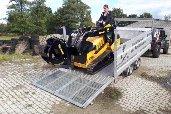 TwinTrailer TT35-40 - 402x192 - 3500kg knikvrij laden en lossen