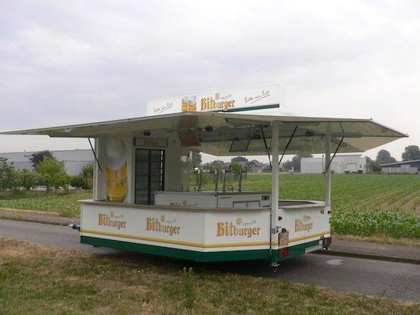 Fahnenbruck tapwagen Mozart met koelruimte
