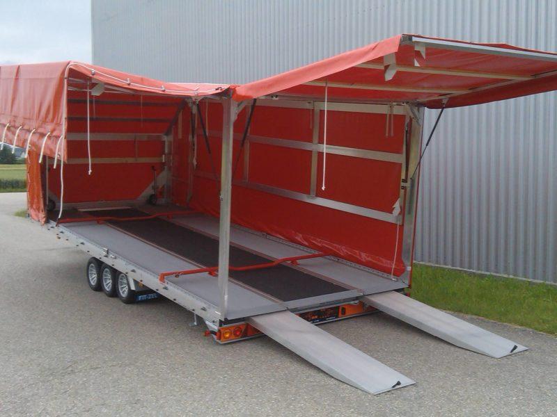 Algema Fit-Zel Unitrans autotransporter met huif