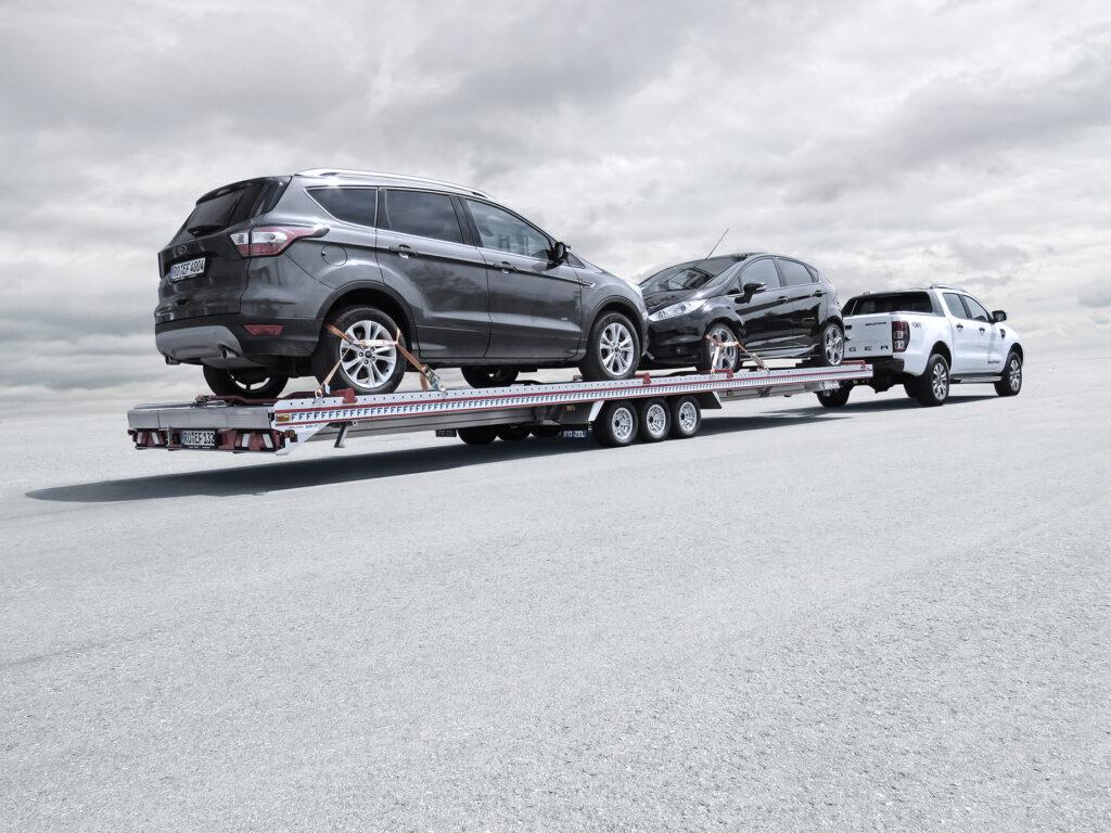 Algema Fit-zel Duo autotransporter 2 auto's aluminium