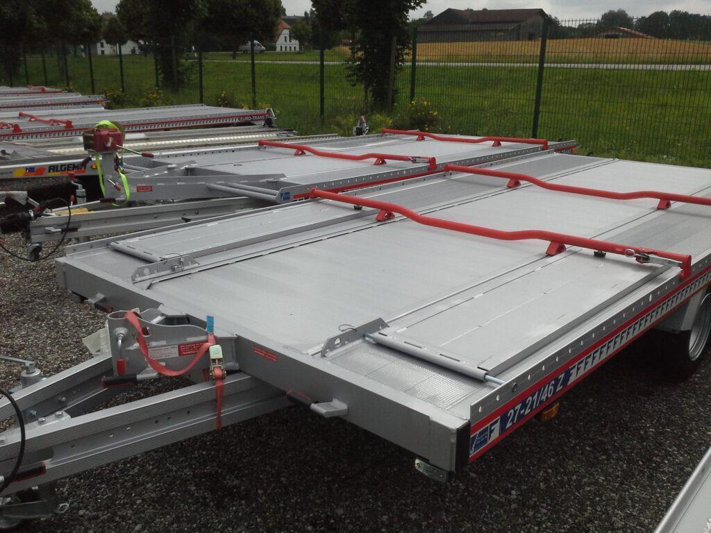 Algema Fit-Zel Unitrans autotransporter met doorlaad rijplaten