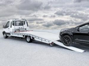 Algema Fitzel autotransporter vaste opbouw Ford Transit