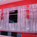 GAMO Fresh-Trailer 380 verkoopruimte achterwand