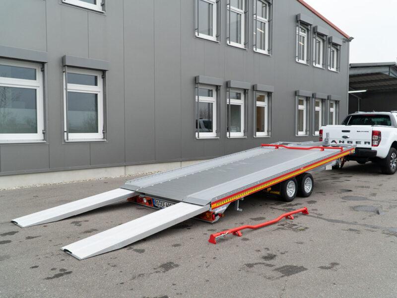 FIT-ZEL Euro kantelbare autotransporter klaar om te laden