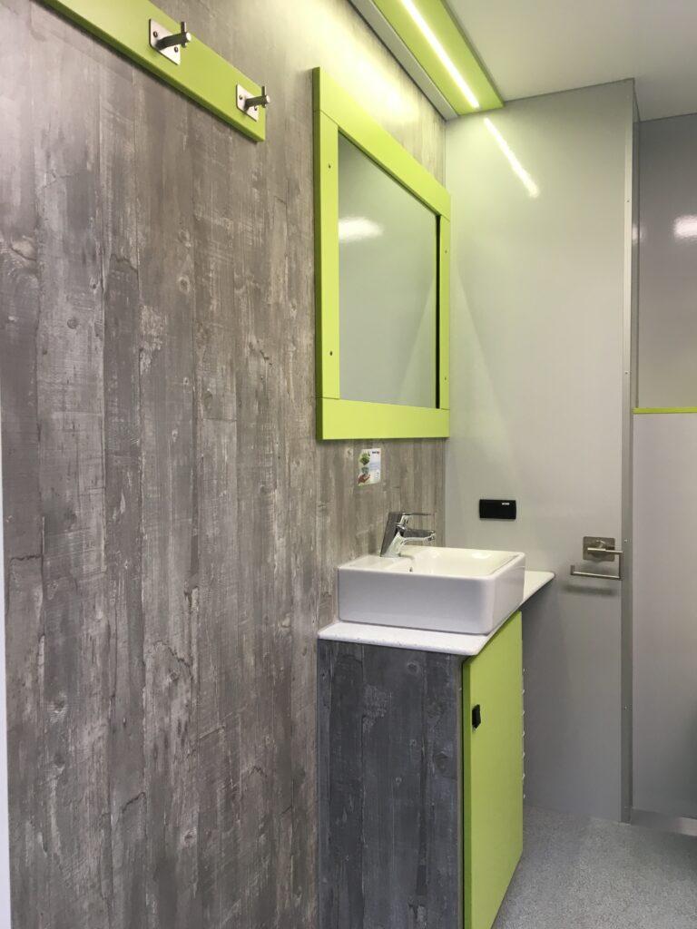 GAMO badkamer aanhangwagen wastafel met spiegel